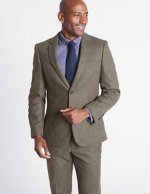 Wool Blend 3 Piece Suit, , catlanding