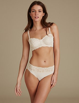 Lace Set with Non Padded Strapless A-E, , catlanding
