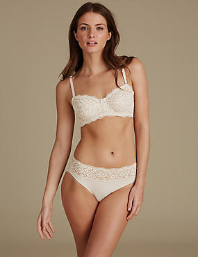 Lace Set with Non-Padded Strapless A-E, , catlanding