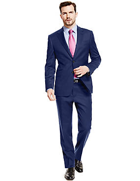 Big & Tall Navy Pinstriped Tailored Fit Suit
