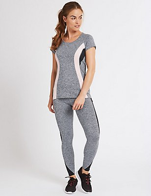 Colour Block T-Shirt & Leggings Set, , catlanding