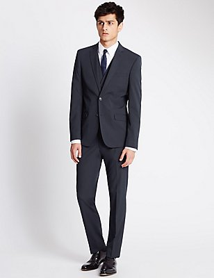 Navy Superslim Fit 3 Piece Suit, , catlanding