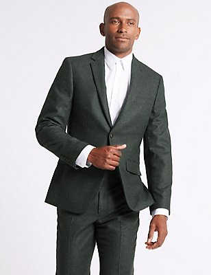 Wool Blend Suit with Italian Fabric, , catlanding