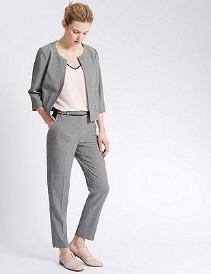 Mini Boxy Checked Suit, , catlanding