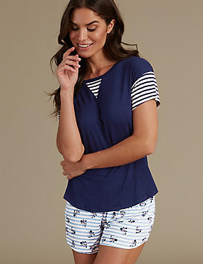 Striped Short Pyjama Set, , catlanding