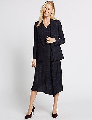Checked Jacket & Dress Set, , catlanding