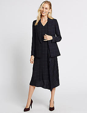 Checked Jacket & Dress Set, , catlanding