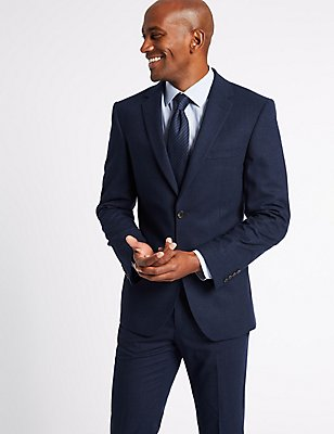 Indigo Tailored Fit Travel  Suit, , catlanding