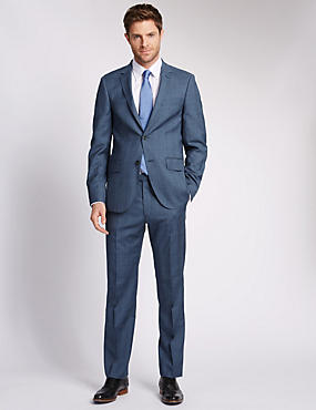 Blue Check Tailored Fit Suit