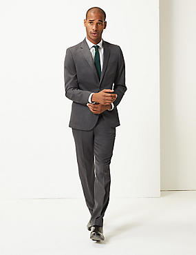 Grey Tailored Fit Suit , , catlanding