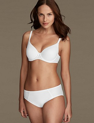 Sumptuously Soft Set with Padded Full Cup T-Shirt A-DD, , catlanding
