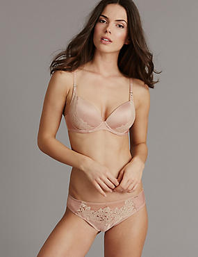 Applique Lace Set with Padded Plunge A-E, , catlanding
