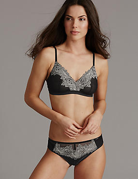 Applique Lace Bralet Set, , catlanding