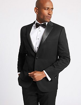 Big & Tall Black Regular Fit Tuxedo Suit, , catlanding