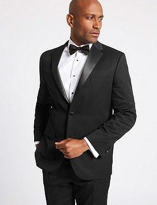 Big & Tall Black Regular Fit Dinner Suit, , catlanding