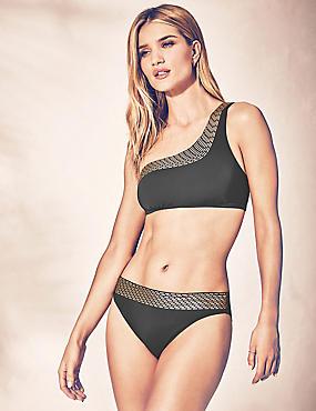 Gold Foil Bikini Set, , catlanding
