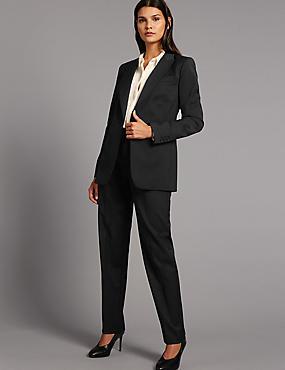 Wool Blend Suit Jacket & Trousers Set, , catlanding