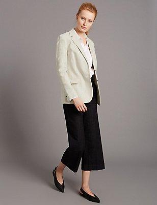Textured Blazer & Jeans Set, , catlanding