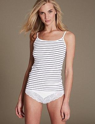 Striped Vest & Knickers Set, , catlanding