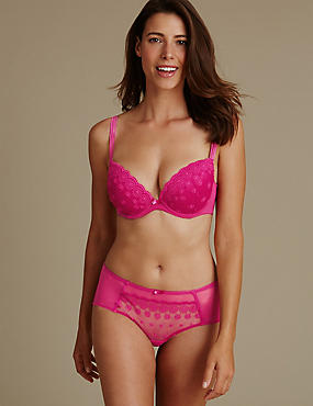 Embroidered Set with Padded Plunge DD-G, , catlanding