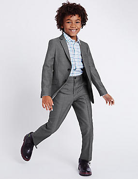 Classic Notch Lapel 2 Button Suit (3-14 Years), , catlanding