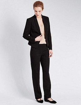 1 Button Step Seam Suit, , catlanding
