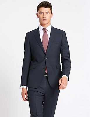 Indigo Tailored Fit Wool Suit, , catlanding