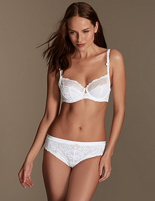 Amelie Lace Set with Non-Padded Balcony B-DD, , catlanding