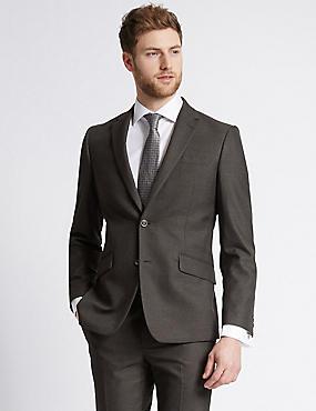 Charcoal Slim Fit Suit, , catlanding