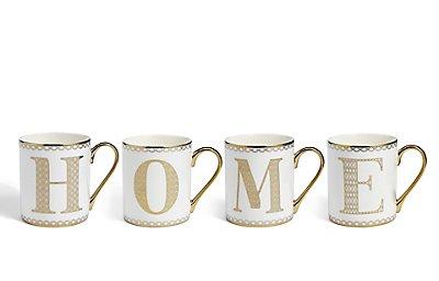 A-Z Individual Gold Mugs, , catlanding