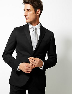 Black Tailored Fit Suit , , catlanding