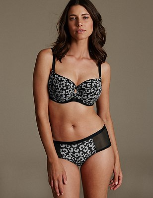 Floral Set with Non-Padded Underwired Balcony DD-G, , catlanding