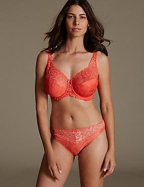 Jacquard Set with Underwired Full Cup DD-H, , catlanding