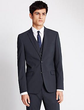 Navy Superslim Suit, , catlanding