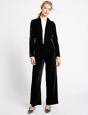 Velvet Jacket & Wide Leg Trousers, , catlanding