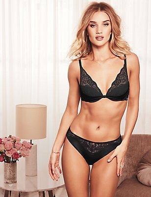 Silk & Lace Set with High Apex Plunge A-E, , catlanding