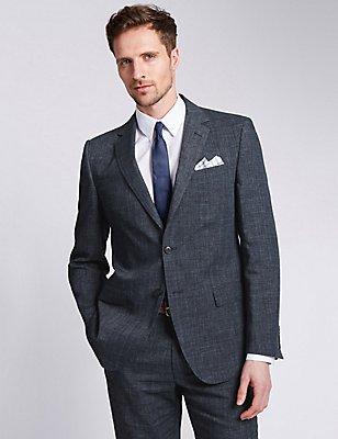 Big & Tall Textured Regular Fit Suit, , catlanding