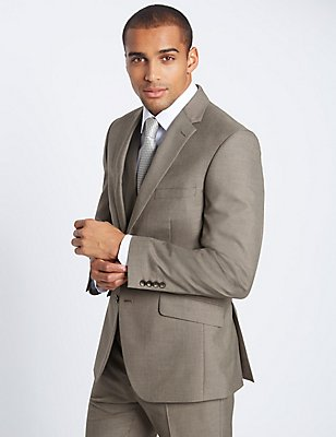 Tailored Fit Suit with Waistcoat, , catlanding