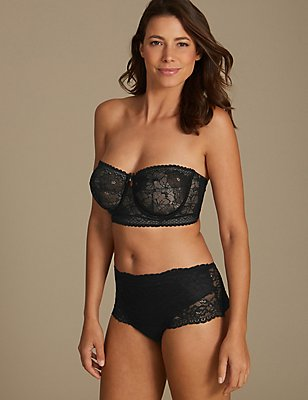 All Over Lace Set with Non-Padded Strapless DD-G, , catlanding