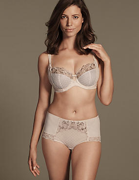 Ophelia Embroidered Set with Non-Padded Balcony DD-GG, , catlanding