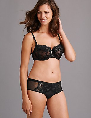 Dentelle Lace Low Set with Non Padded DD-G , , catlanding