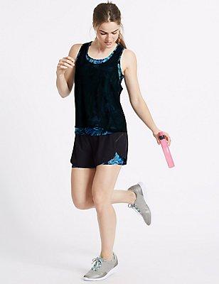 Printed Sports Vest & Shorts Set, , catlanding