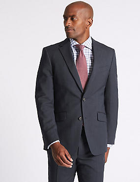 Navy Striped Slim Fit Suit, , catlanding