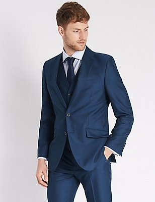 Indigo Slim Fit 3 Piece Suit, , catlanding