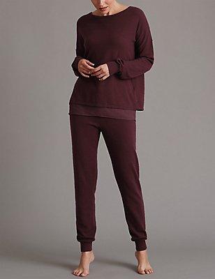 Cashmere Long Sleeve Pyjama Set , , catlanding