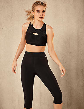 Active Cropped Top & Leggings Set, , catlanding