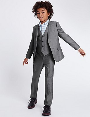 Grey Tailored Fit Suit (3-14 Years), , catlanding