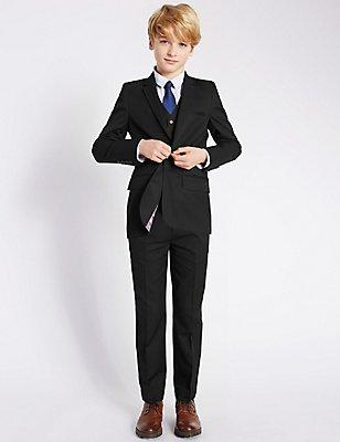 Classic Notch Lapel 2 Button Suit (5-14 Years), , catlanding