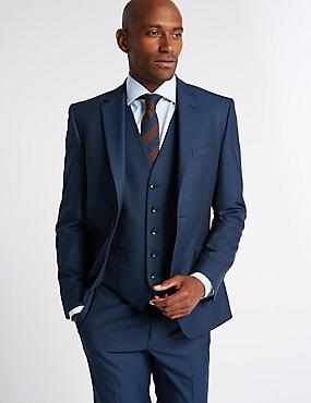 Indigo Tailored Fit Suit with Waistcoat, , catlanding