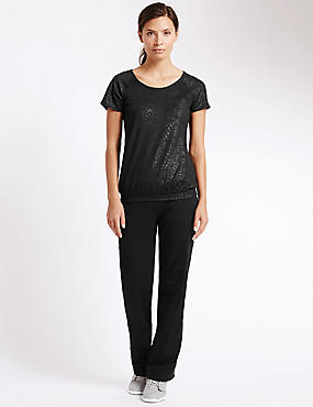 Embossed Bubble T-Shirt and Joggers Set, , catlanding